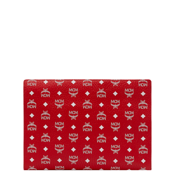 MCM Reissverschlussbeutel mit Visetos-Logo in Weiss Red MXZ9SWA12AV001 Alternate View 3