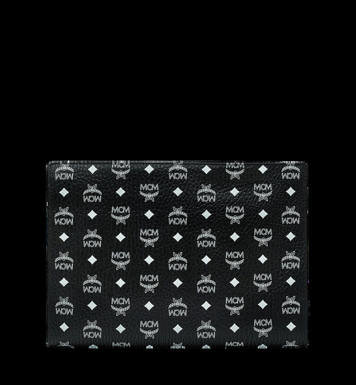 MCM Reissverschlussbeutel mit Visetos-Logo in Weiss Black MXZ9SWA12BV001 Alternate View 3