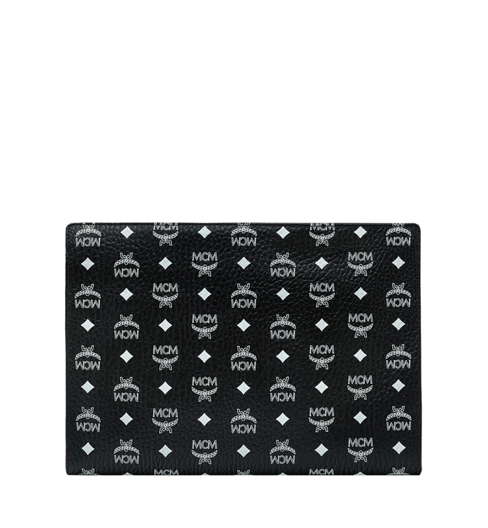 MCM Zip Pouch in White Logo Visetos Alternate View 3