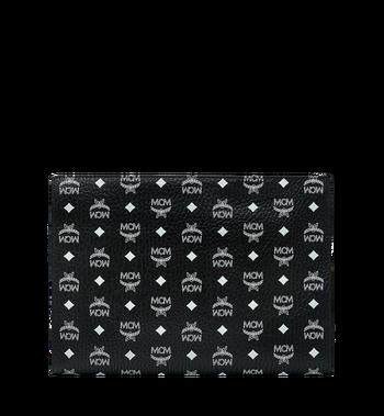 MCM Zip Pouch in White Logo Visetos Alternate View 3