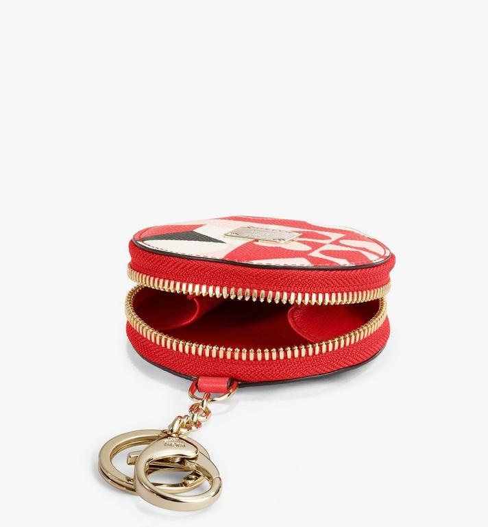 MCM Tambourine Charm in Cubic Valentine Leather Red MXZAACF02RP001 Alternate View 3