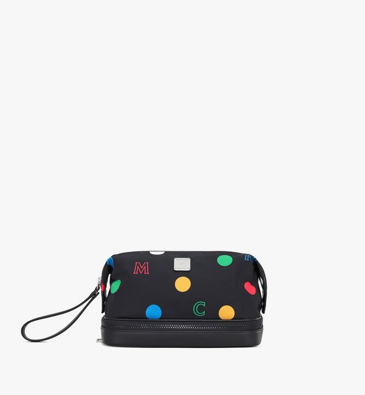 MCM Wash Bag in Polka Dot Nylon Alternate View