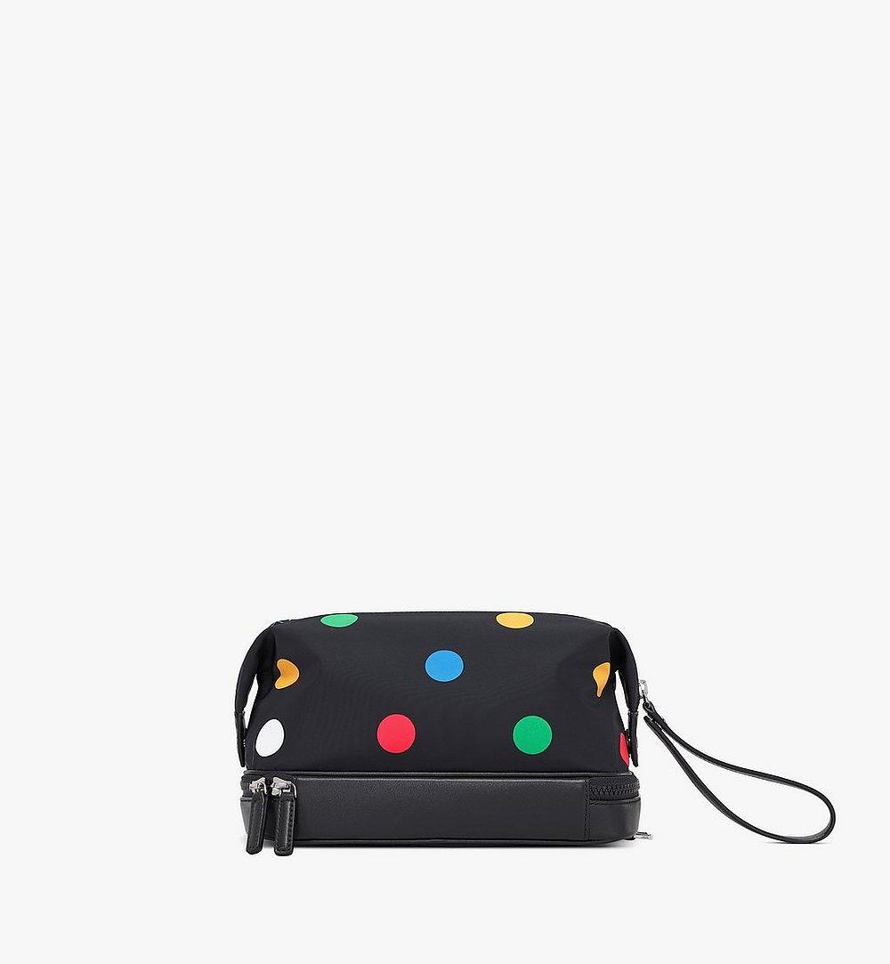 MCM Wash Bag in Polka Dot Nylon Black MXZAAPD01BK001 Alternate View 2