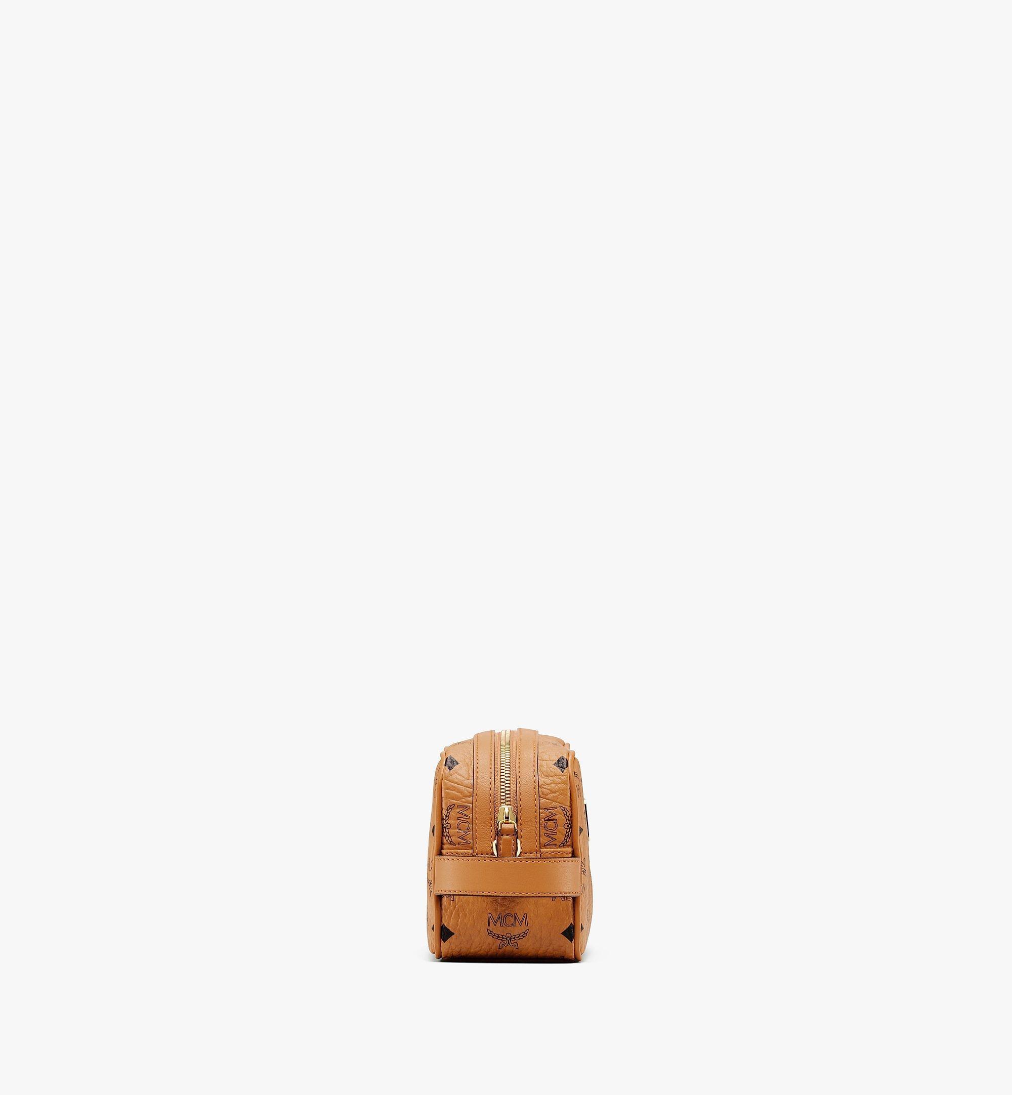 MCM Wash Bag in Visetos Original Cognac MXZAAVI01CO001 Alternate View 1