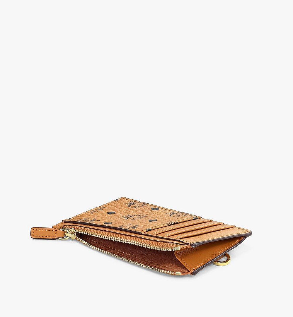 MCM Lanyard Card Holder in Visetos Original Cognac MXZAAVI08CO001 Alternate View 2