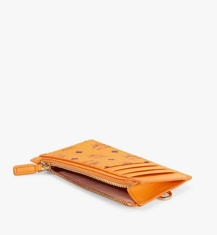 MCM Lanyard Card Holder in Visetos Original Orange MXZAAVI08O5001 Alternate View 2