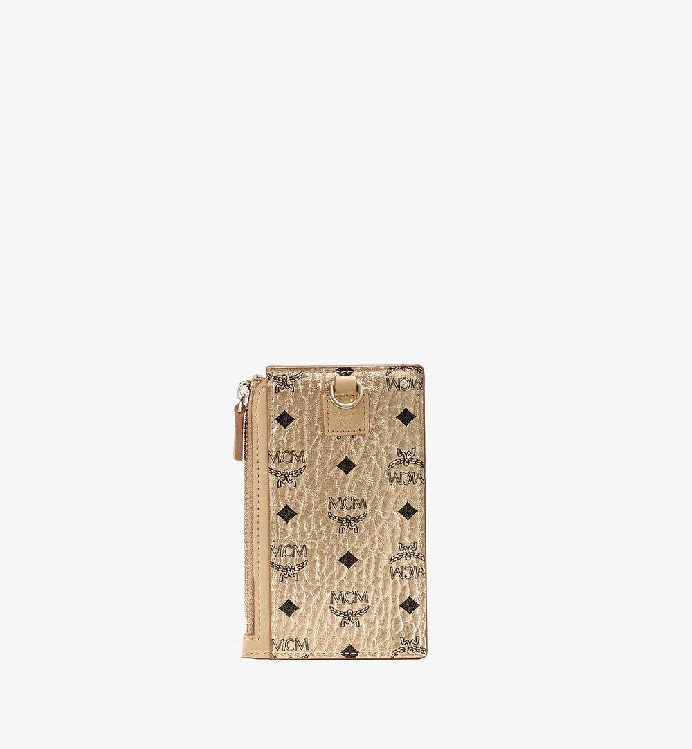 MCM Kartenetui in Visetos Original mit Schlüsselband Gold MXZAAVI08T1001 Noch mehr sehen 2