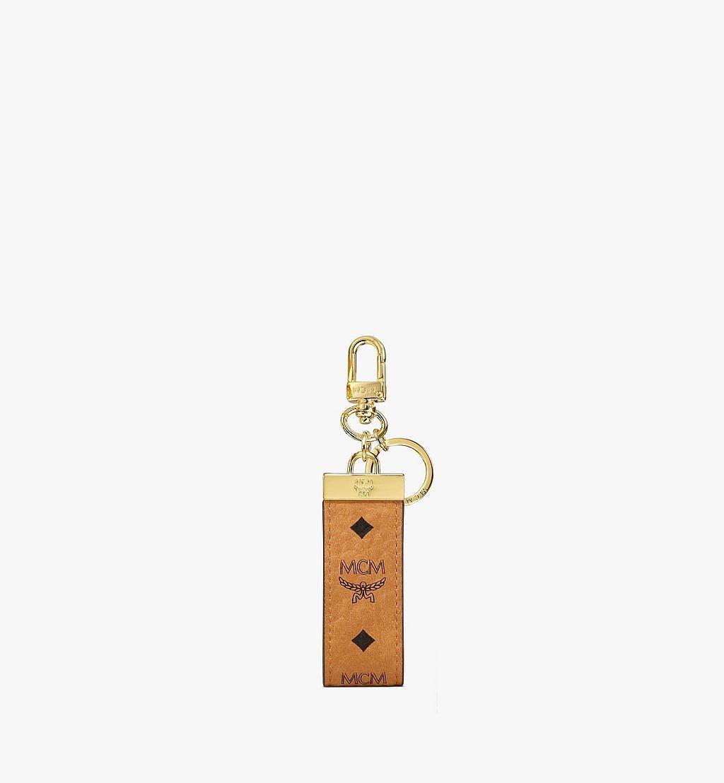 MCM Key Ring in Visetos Original Black MXZAAVI09CO001 Alternate View 1