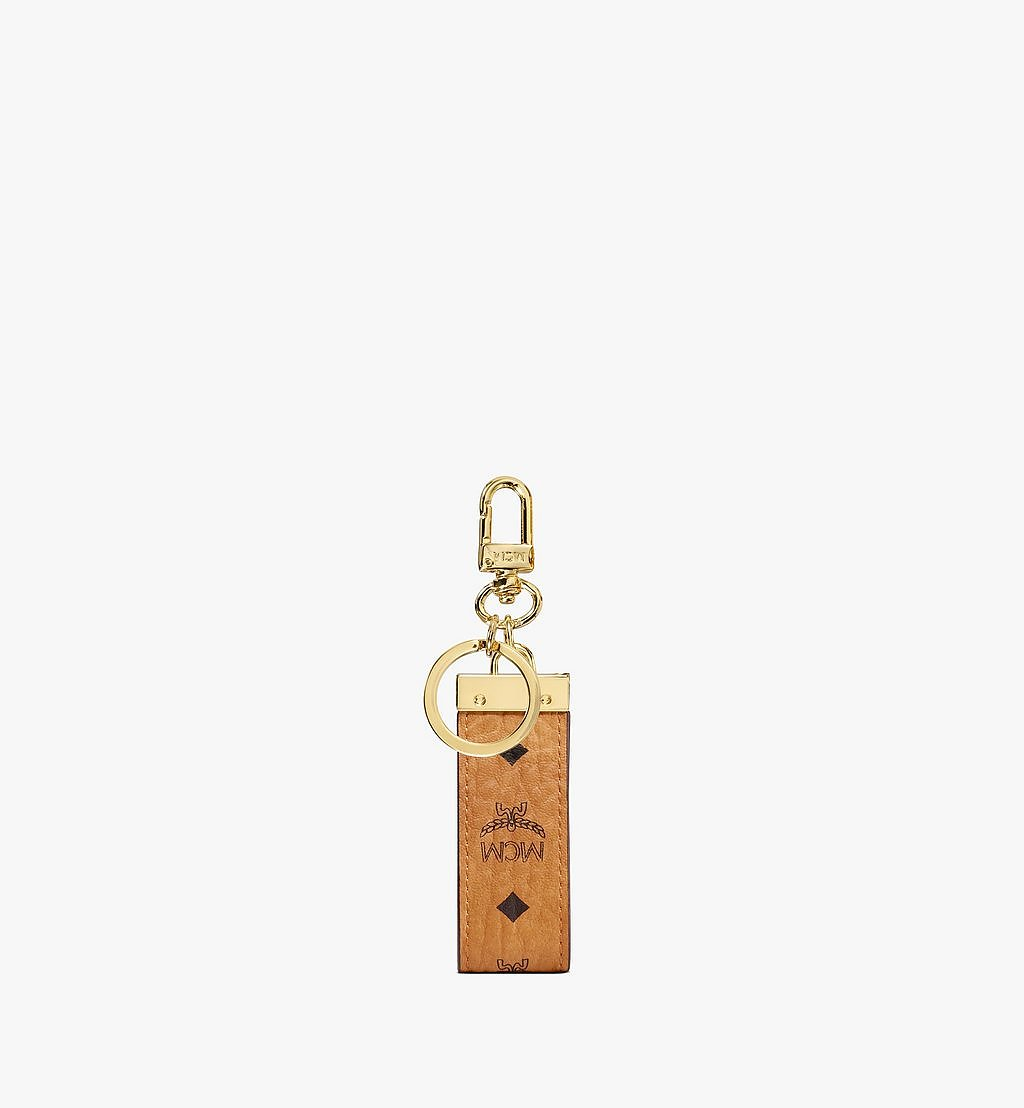 MCM Key Ring in Visetos Original Black MXZAAVI09CO001 Alternate View 2