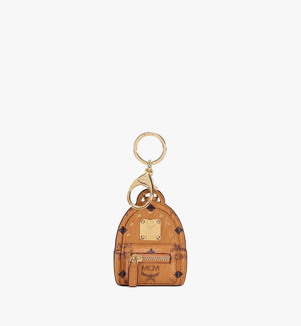 MCM Stark Backpack 2D Charm in Visetos Cognac MXZAAVI17CO001 Alternate View 1