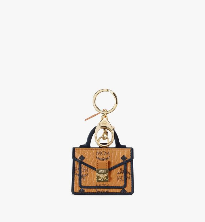 MCM Patricia Satchel 2D Charm in Visetos Cognac MXZAAVI19CO001 Alternate View 1