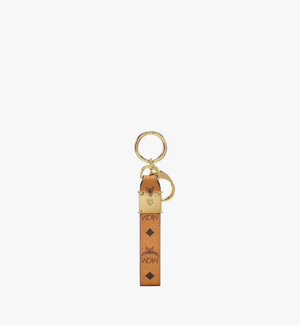 MCM Mena Key Ring in Visetos Original Cognac MXZAAVI28CO001 Alternate View 1