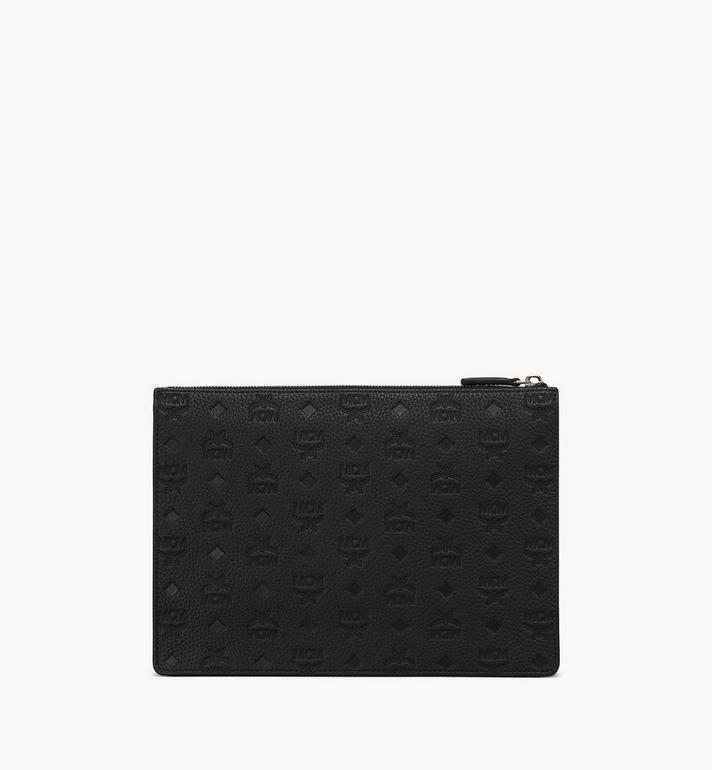 MCM Tivitat Document Holder in Monogram Leather Alternate View