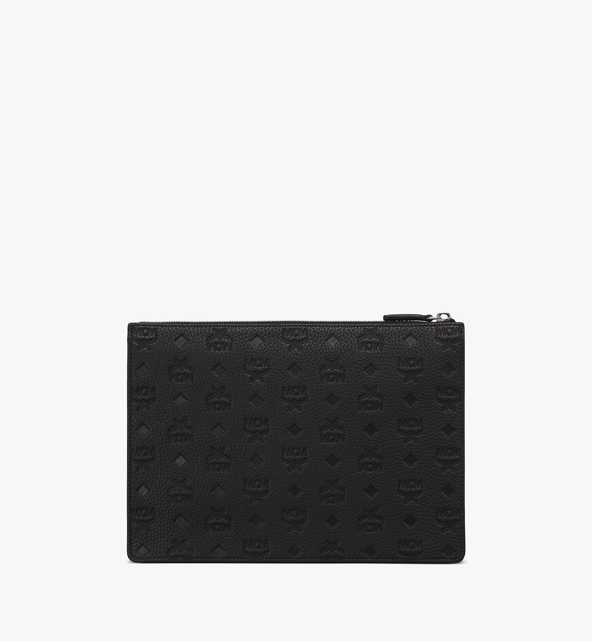 MCM Tivitat Document Holder in Monogram Leather Black MXZASBT01BK001 Alternate View 1