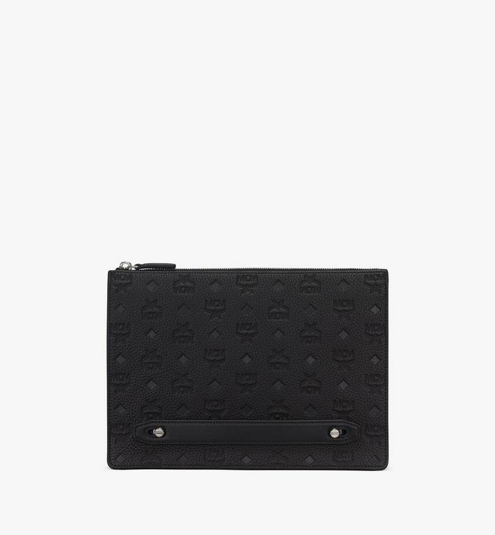 MCM Tivitat Document Holder in Monogram Leather Black MXZASBT01BK001 Alternate View 3