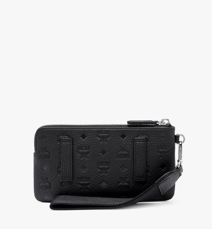 MCM Tivitat Tech-Pouch aus Leder mit Monogramm Black MXZASBT03BK001 Alternate View 2