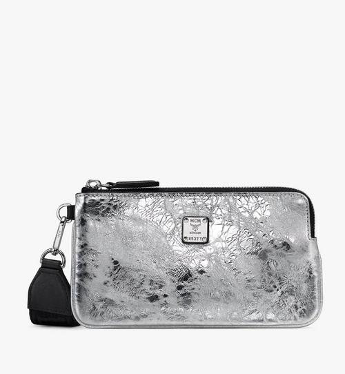 Klassik Tech Pouch in Crushed Metallic Leather