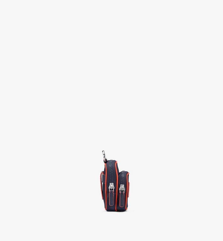 MCM Klassik Airpod-Etui aus Nylon mit Monogramm Blue MXZASKC02VA001 Alternate View 2