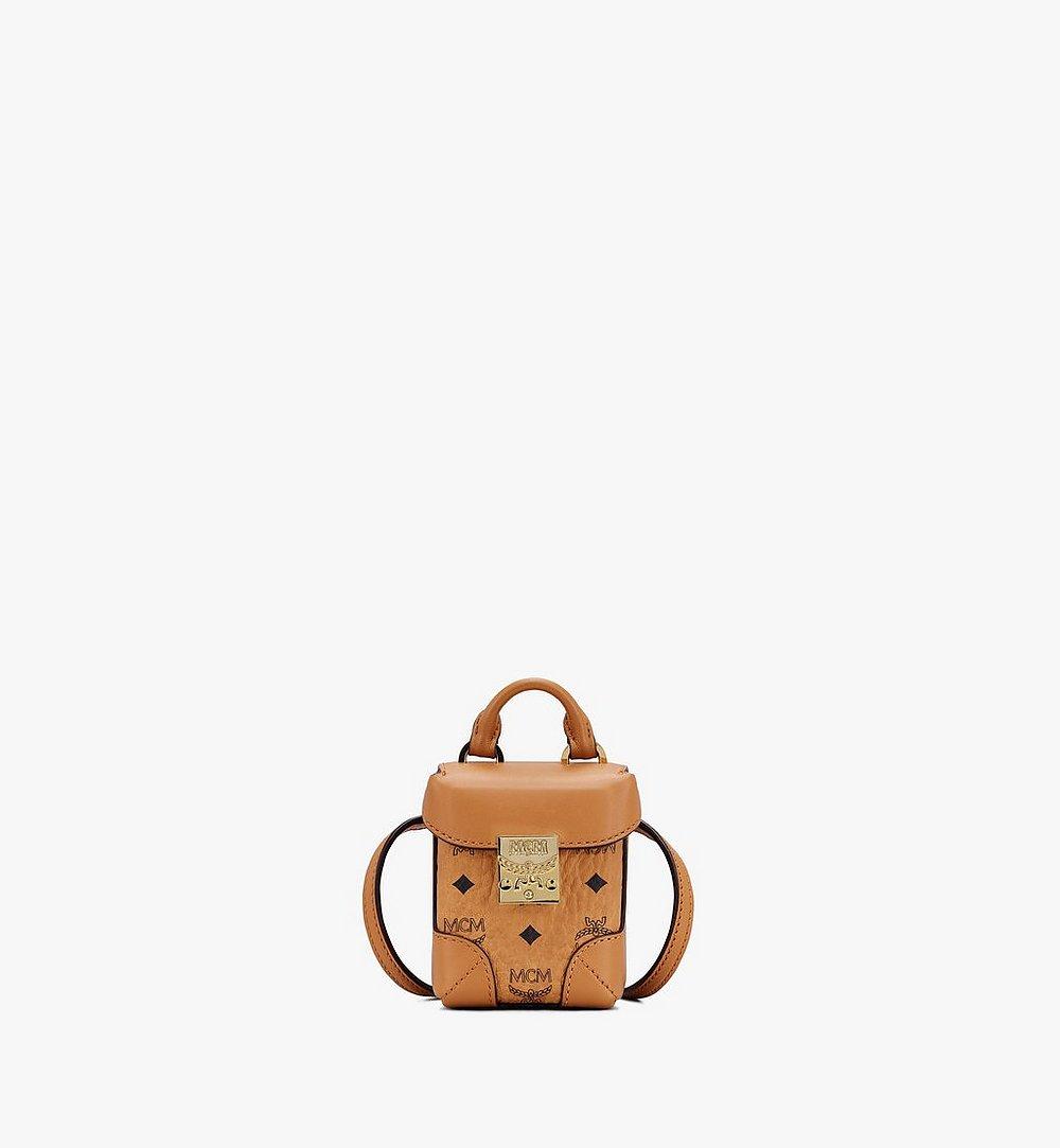 MCM Soft Berlin Bag Charm in Visetos Cognac MXZASVI01CO001 Alternate View 1