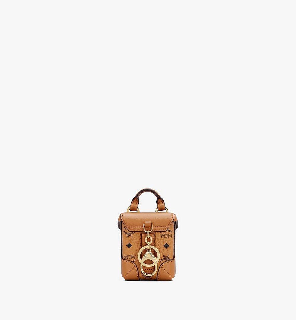 MCM Soft Berlin Bag Charm in Visetos Cognac MXZASVI01CO001 Alternate View 2