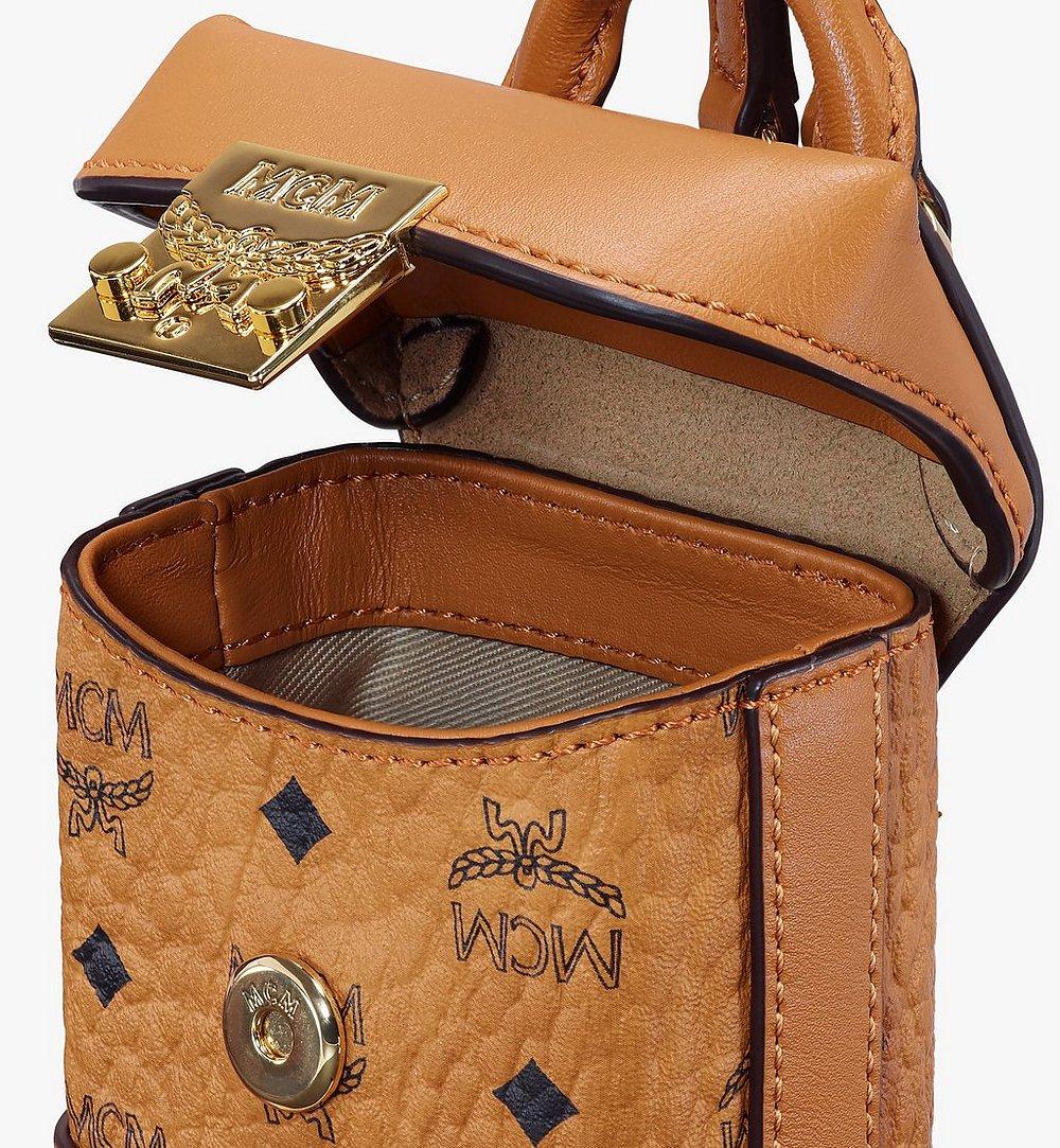MCM Soft Berlin Bag Charm in Visetos Cognac MXZASVI01CO001 Alternate View 3