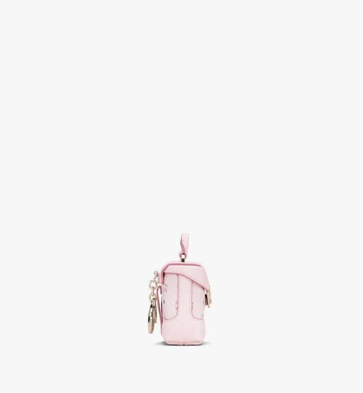 MCM Soft Berlin Charm with Crossbody Strap in Visetos Pink MXZASVI01QH001 Alternate View 2