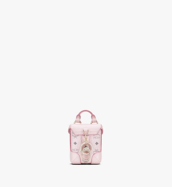 MCM Soft Berlin Charm with Crossbody Strap in Visetos Pink MXZASVI01QH001 Alternate View 3
