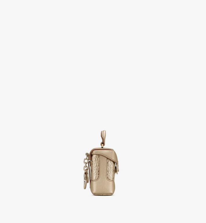 MCM Soft Berlin Charm with Crossbody Strap in Visetos Gold MXZASVI01T1001 Alternate View 2
