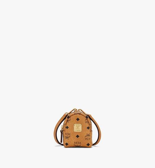 Porte-clés sac à dos avec bandoulière en Visetos