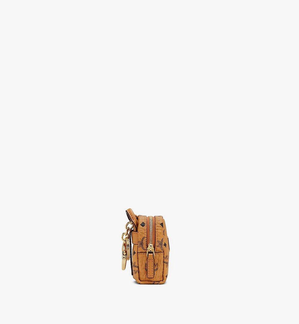 MCM Backpack Charm with Crossbody Strap in Visetos Cognac MXZASVI02CO001 Alternate View 1