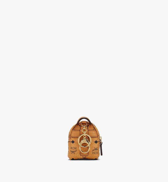 MCM Backpack Charm with Crossbody Strap in Visetos Cognac MXZASVI02CO001 Alternate View 3