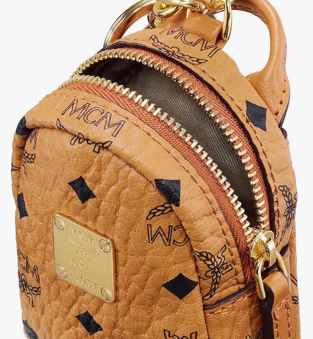 MCM Backpack Charm with Crossbody Strap in Visetos Cognac MXZASVI02CO001 Alternate View 3