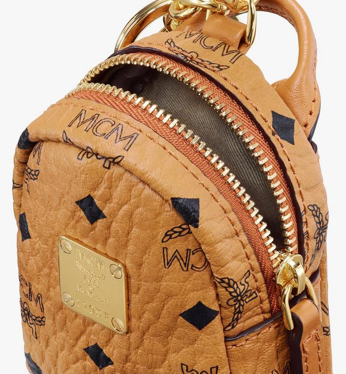 MCM Backpack Charm with Crossbody Strap in Visetos Cognac MXZASVI02CO001 Alternate View 4