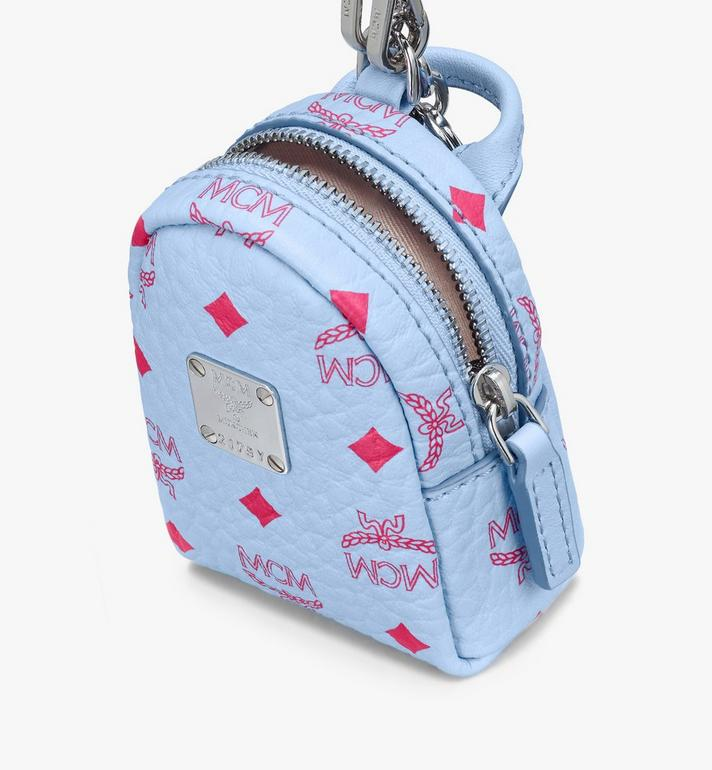 MCM Backpack Charm with Crossbody Strap in Visetos Blue MXZASVI02H2001 Alternate View 4