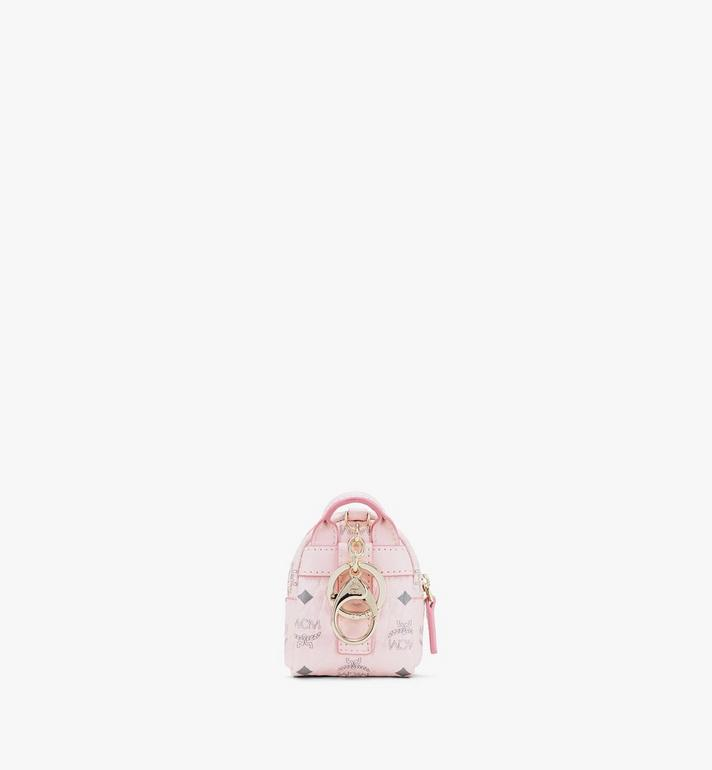 MCM Backpack Charm with Crossbody Strap in Visetos Pink MXZASVI02QH001 Alternate View 3