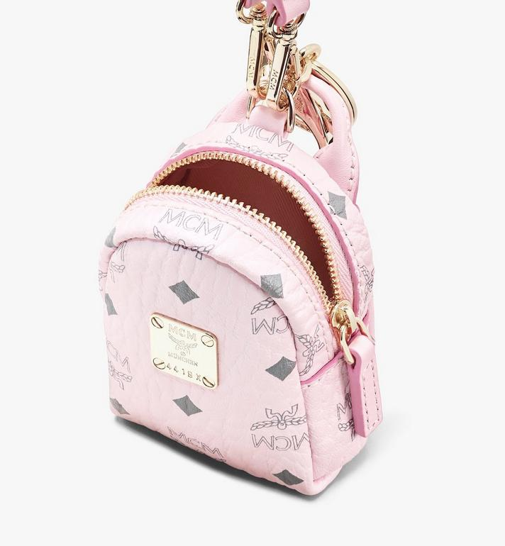 MCM Backpack Charm with Crossbody Strap in Visetos Pink MXZASVI02QH001 Alternate View 4