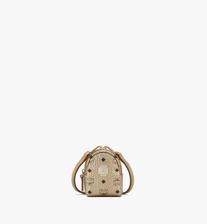 MCM Backpack Charm with Crossbody Strap in Visetos Alternate View