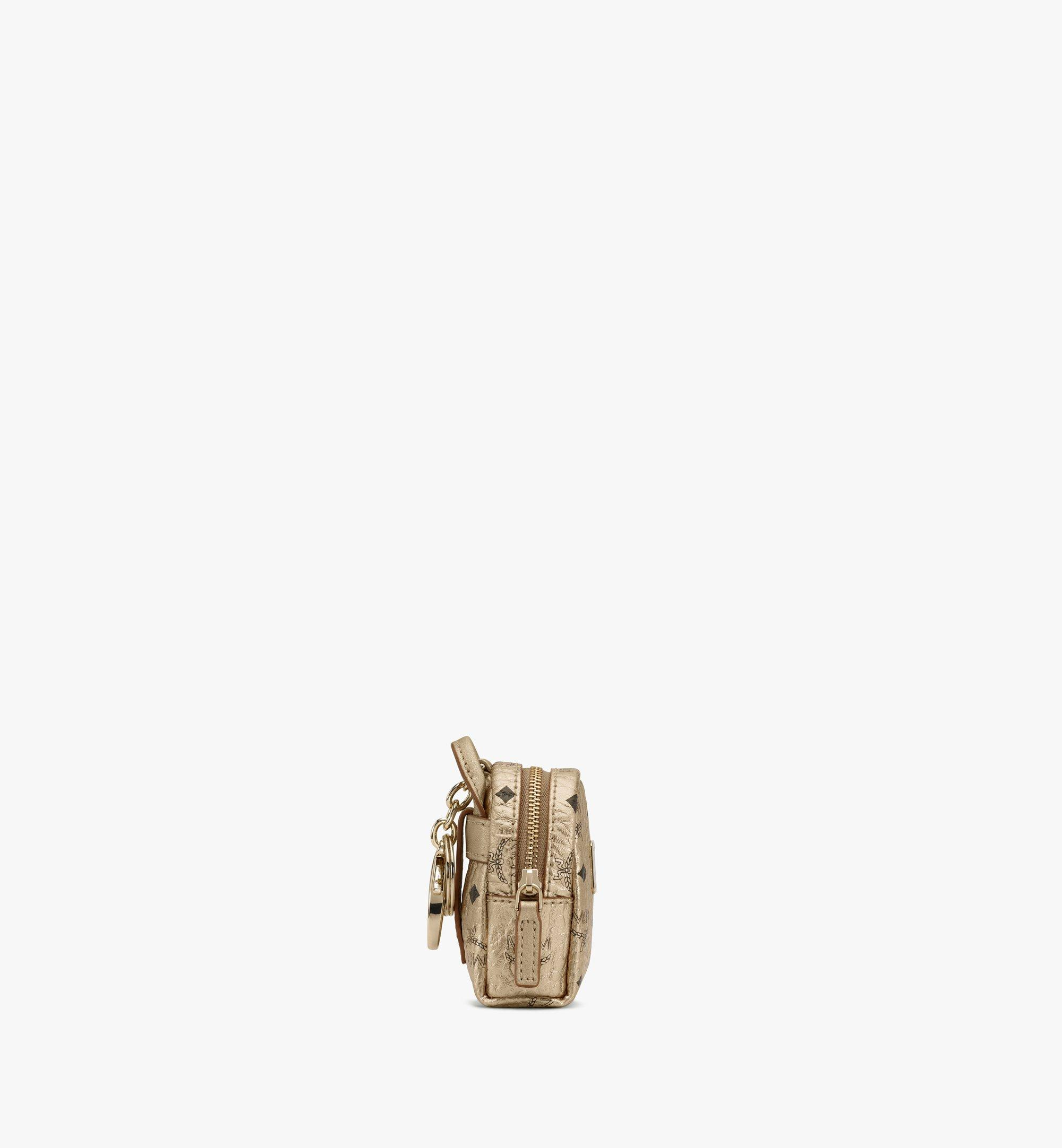 MCM Backpack Charm with Crossbody Strap in Visetos Gold MXZASVI02T1001 Alternate View 2
