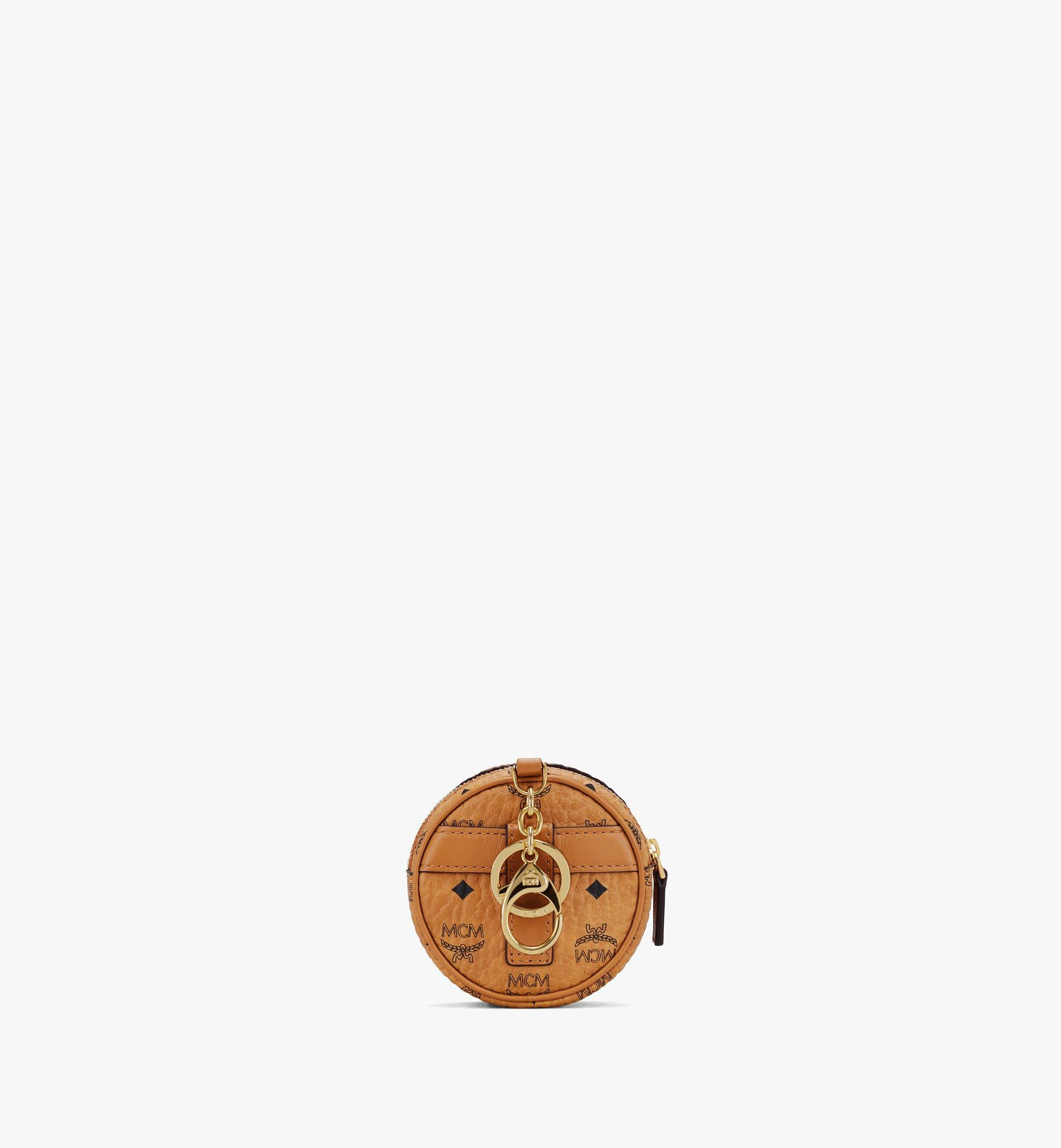 MCM Tambourine Charm with Crossbody Strap in Visetos Cognac MXZASVI03CO001 Alternate View 2