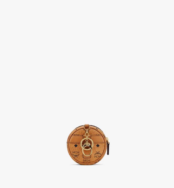 MCM Tambourine Charm with Crossbody Strap in Visetos Cognac MXZASVI03CO001 Alternate View 3