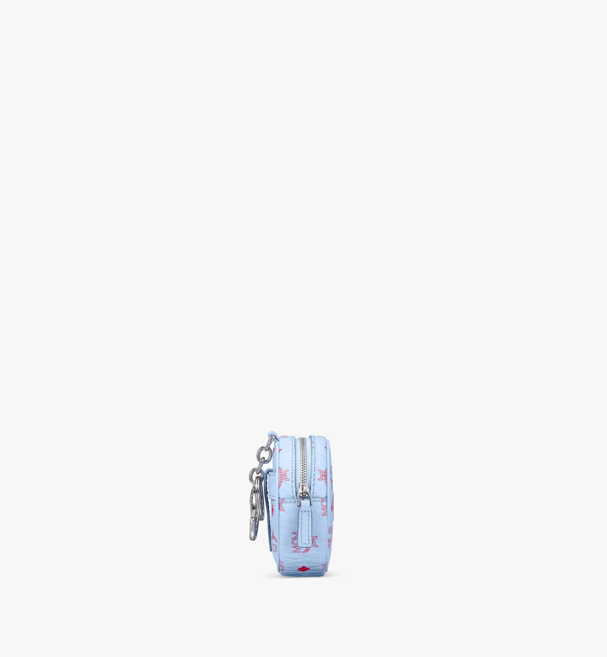 MCM タンバリンバッグ チャーム - ヴィセトス、クロスボディストラップ付き Blue MXZASVI03H2001 Alternate View 2