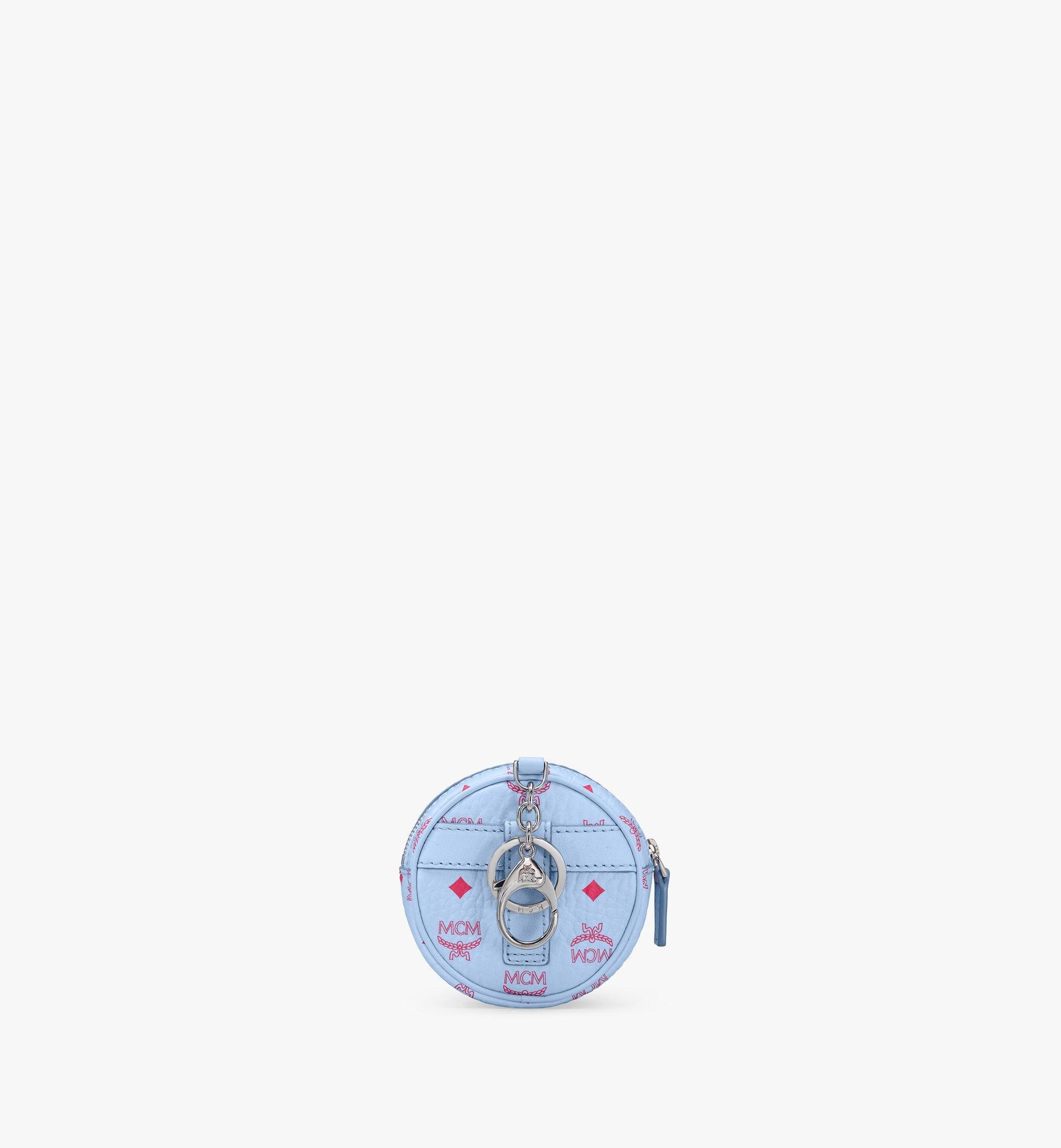 MCM タンバリンバッグ チャーム - ヴィセトス、クロスボディストラップ付き Blue MXZASVI03H2001 Alternate View 3