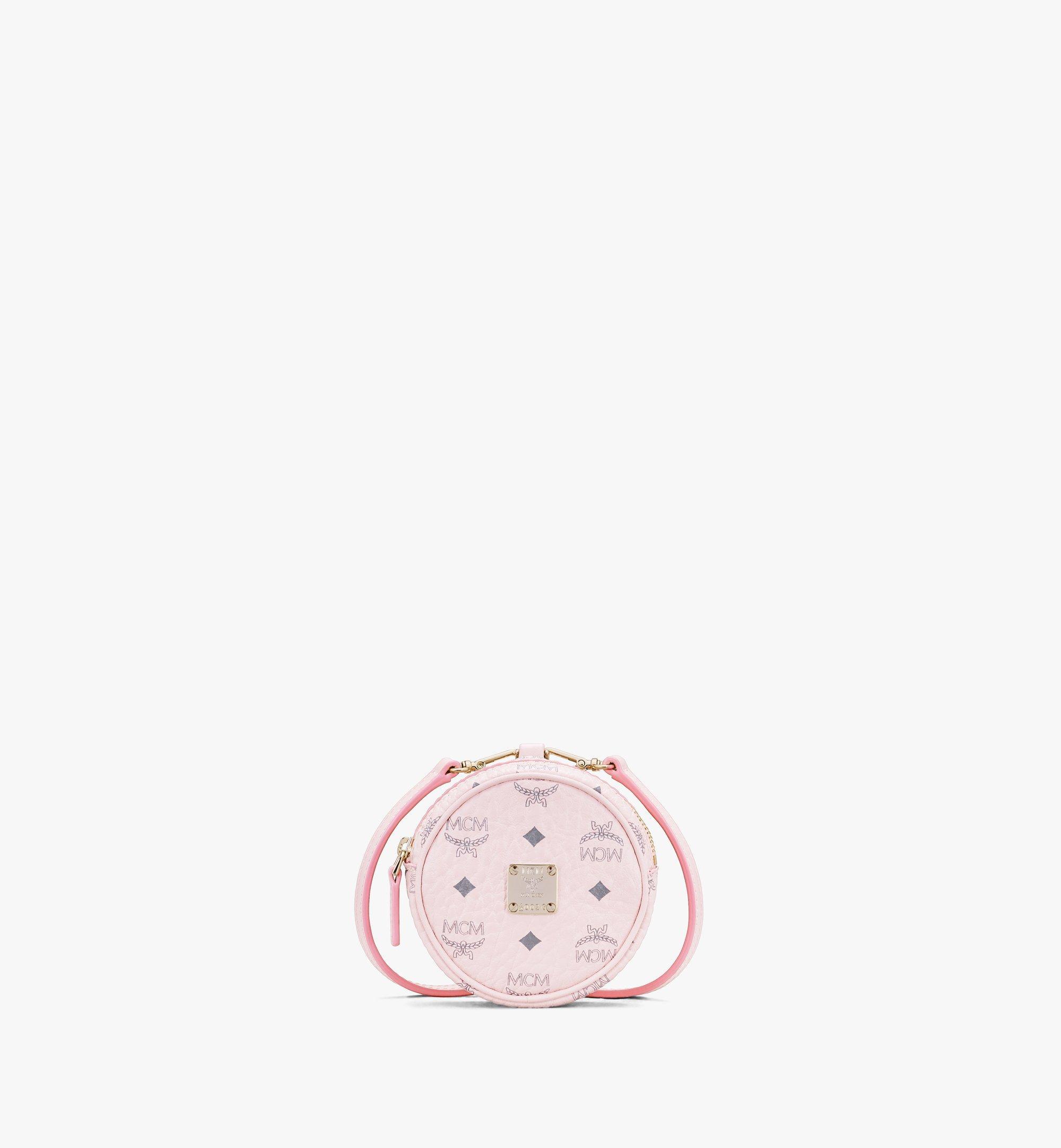 MCM 搭配Visetos斜挎肩带的铃鼓包挂饰 Pink MXZASVI03QH001 Alternate View 1