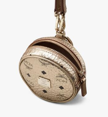 MCM Tambourine Bag Airpod Case in Visetos Gold MXZASVI03T1001 Alternate View 4