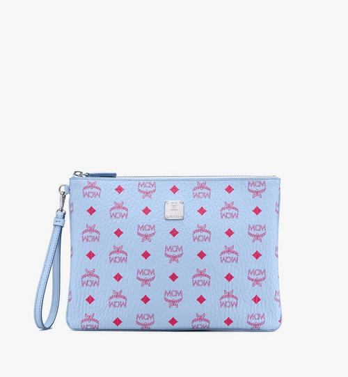 Wristlet Zip Pouch in Visetos
