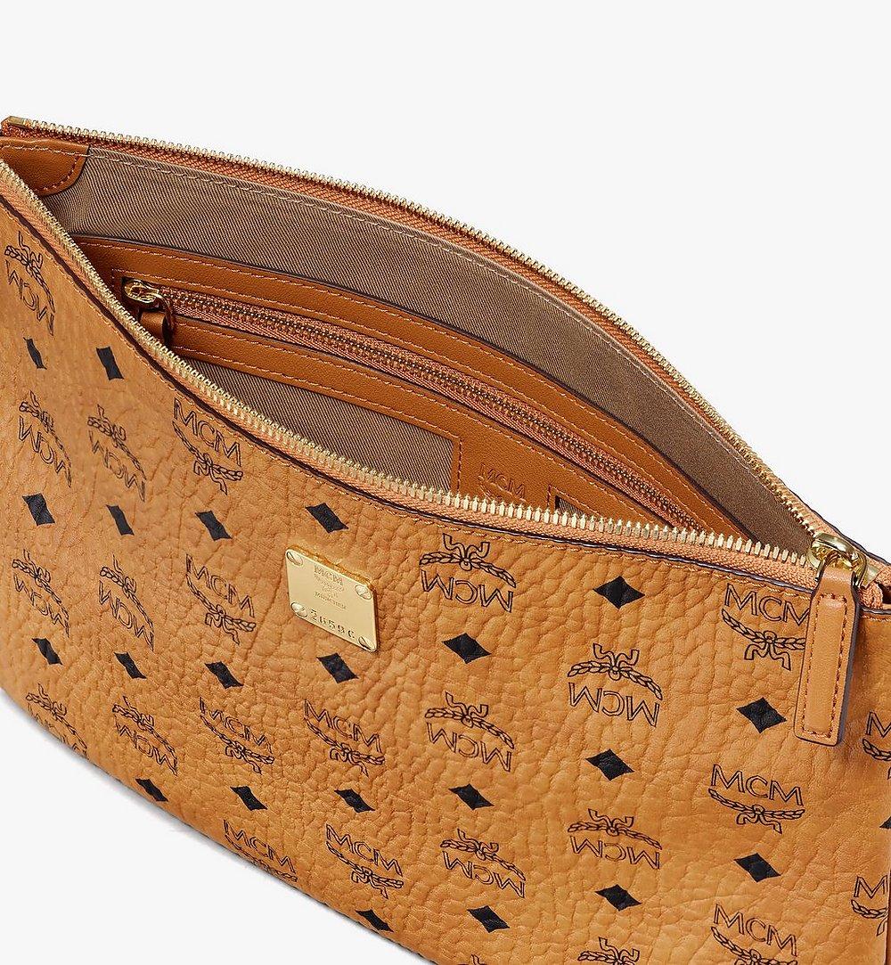 MCM Wristlet Zip Pouch in Visetos Cognac MXZASVI10CO001 Alternate View 2