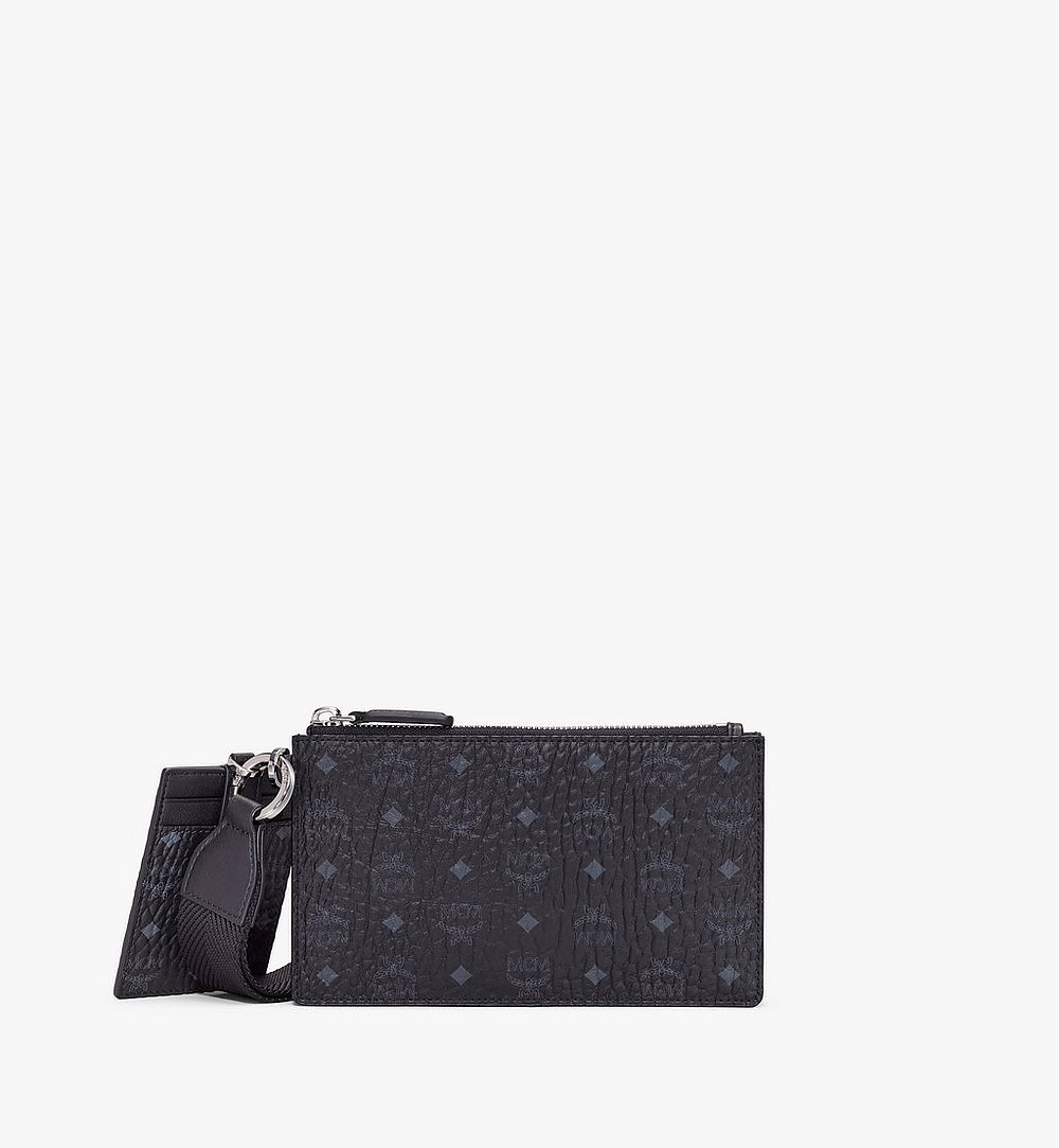 MCM Multifunction Pouch in Visetos Black MXZASVI12BK001 Alternate View 1