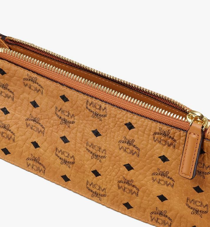MCM Multifunction Pouch in Visetos Cognac MXZASVI12CO001 Alternate View 3