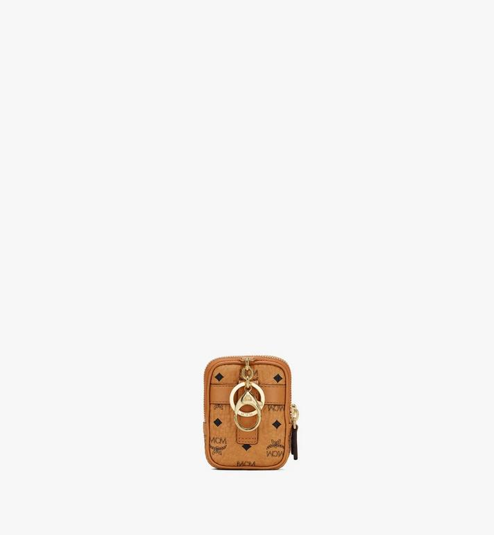 MCM Airpod Case Charm in Visetos Cognac MXZASVI13CO001 Alternate View 3