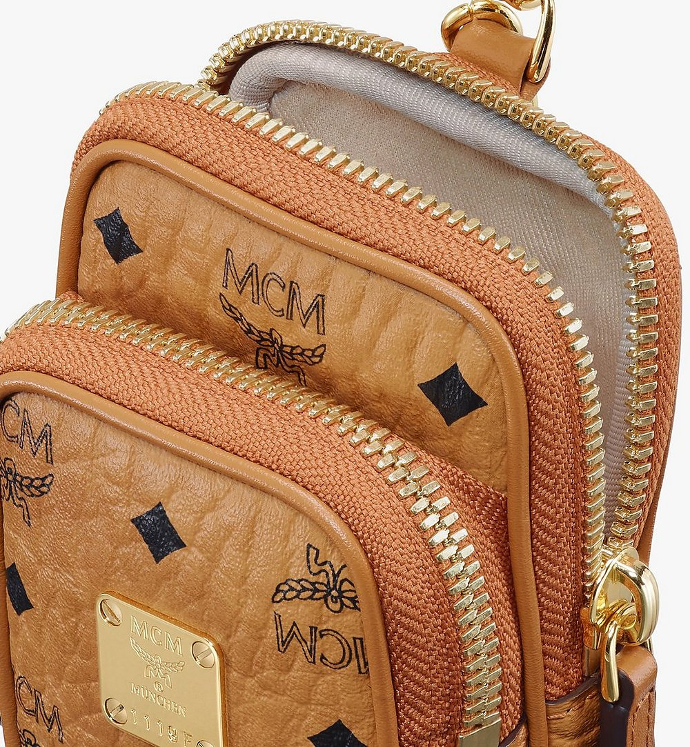 MCM Crossbody Charm in Visetos Cognac MXZASVI13CO001 Alternate View 3